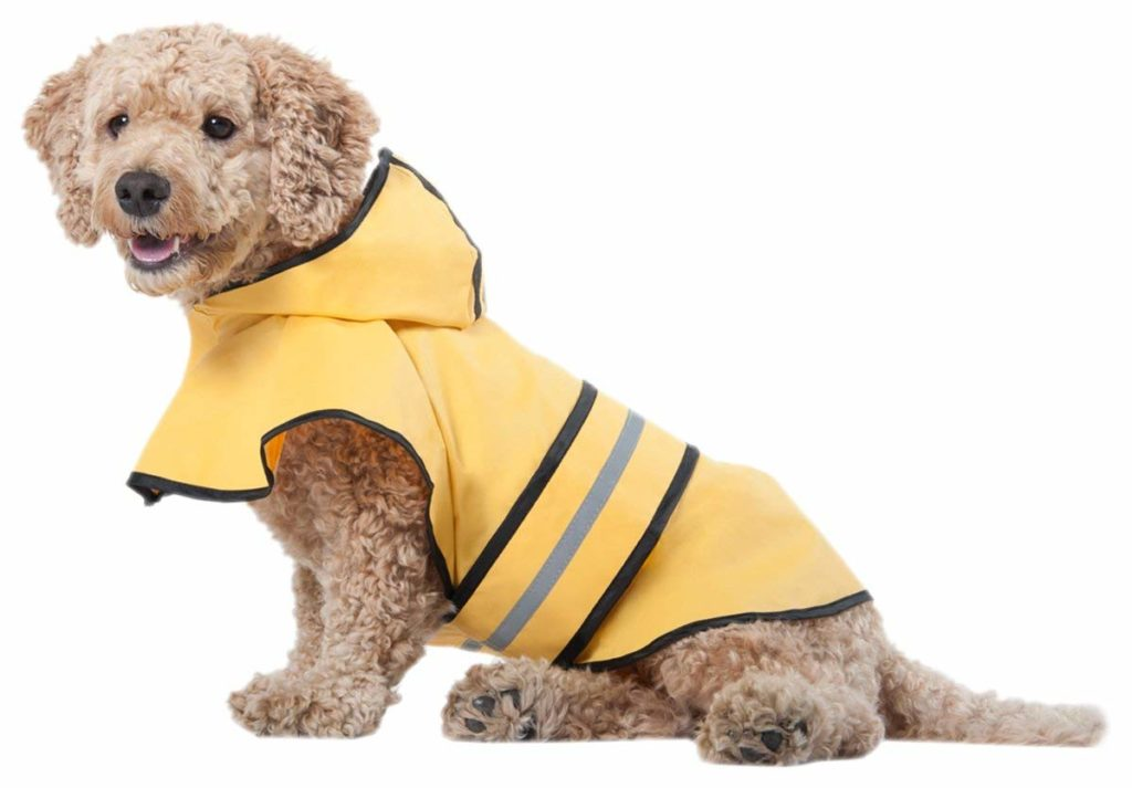 Fashion Pet Dog Raincoat For Small Dogs With Reflective Stripe